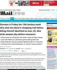 Jacob Tyler Roberts Gunman in Oregon mall shooting: MailOnline